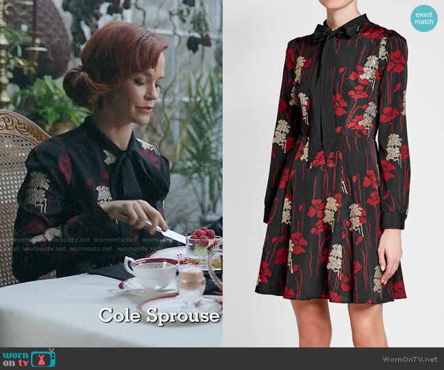 The Kooples Poppy Crepe Dress worn by Penelope Blossom (Nathalie Boltt) on Riverdale