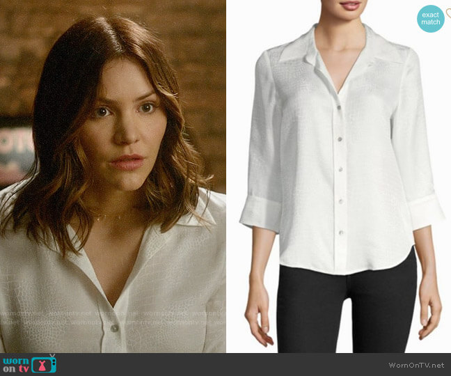 L'Agence Marianne Blouse worn by Katharine McPhee on Scorpion