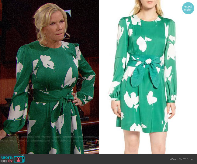 Lewit Floral Stretch Silk Dress worn by Katherine Kelly Lang on The Bold & the Beautiful