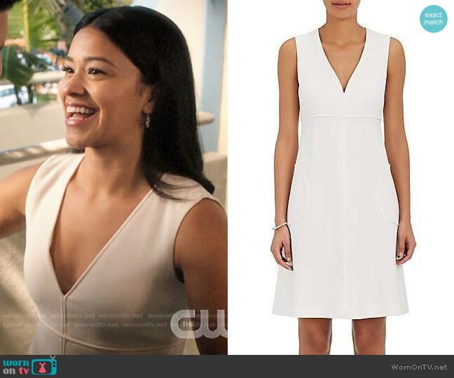 Lisa Perry Wool Shift Dress worn by Jane Villanueva (Gina Rodriguez) on Jane the Virgin