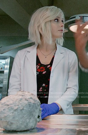 Liv's black floral top on iZombie