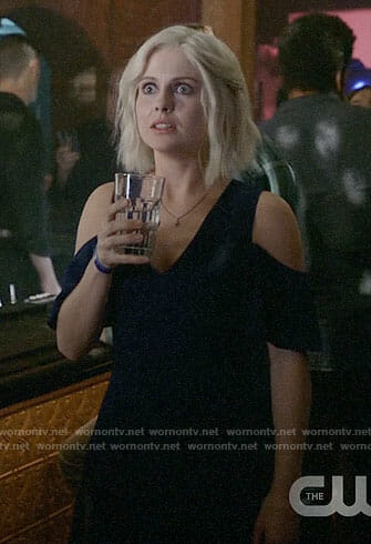 Liv's blue cold-shoulder dress on iZombie