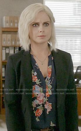 Liv's navy floral blouse on iZombie