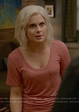 Liv's pink tee on iZombie