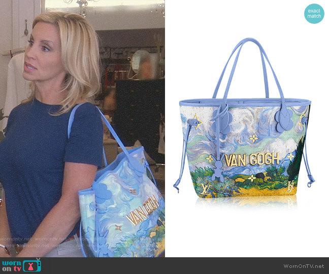 Neverfull MM Bag by Louis Vuitton worn by Camille Grammer on The Real Housewives of Beverly Hills