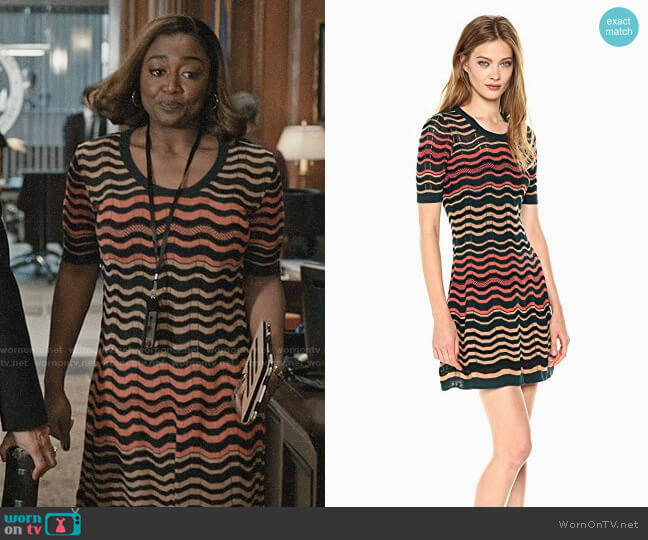 M Missoni Greek Key Dress worn by Patina Miller on Madam Secretary
