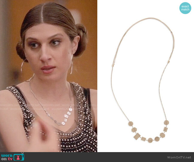 Madewell Holding Pattern Necklace worn by Nomi Segal (Emily Arlook) on Grown-ish