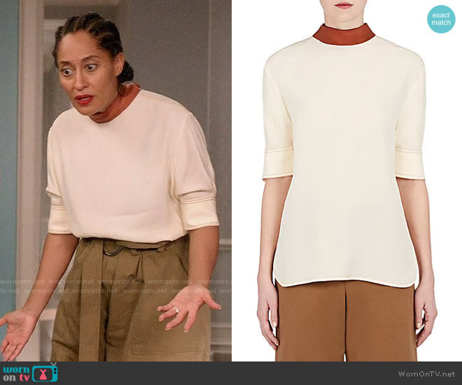 Marni Tie Neck Crepe Blouse worn by Tracee Ellis Ross on Blackish