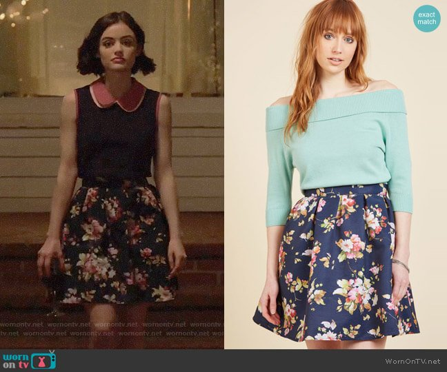 ModCloth Benevolent Belle Fit and Flare Skirt worn by Stella Abbott (Lucy Hale) on Life Sentence