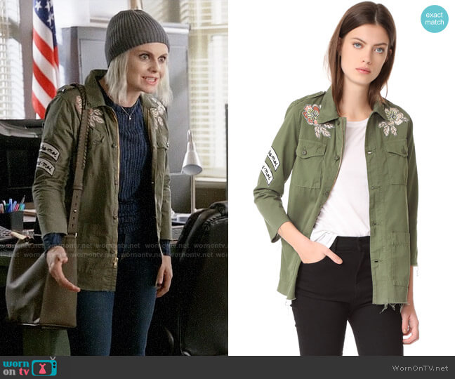 Mother Top Brass Fray Jacket worn by Rose McIver on iZombie