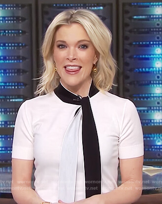 Megyn's white neck tie top on Megyn Kelly Today
