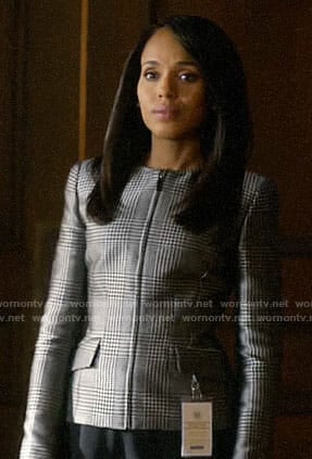 Olivia Pope's glenplaid jacket on How to Get Away with Murder