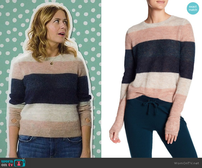 Pam & Gela Striped Sweater worn by Lena (Jenna Fischer) on Splitting Up Together