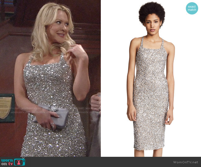 Parker Black Sage Dress worn by Brittany on The Young and the Restless