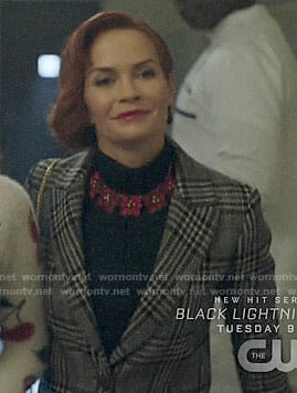 Penelope's plaid coat on Riverdale