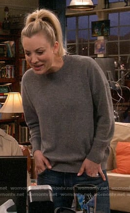 Penny's grey sweater on The Big Bang Theory