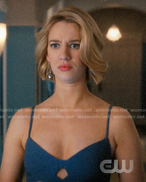 Petra's blue dress with cutout on Jane the Virgin