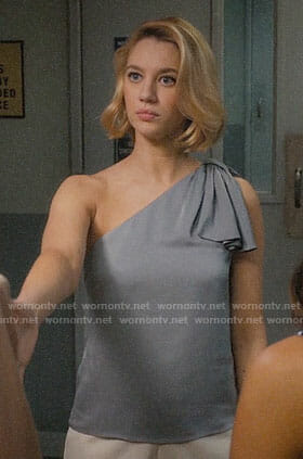 Petra's grey one-shoulder top one Jane the Virgin