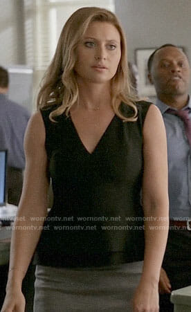 Peyton's black peplum top on iZombie