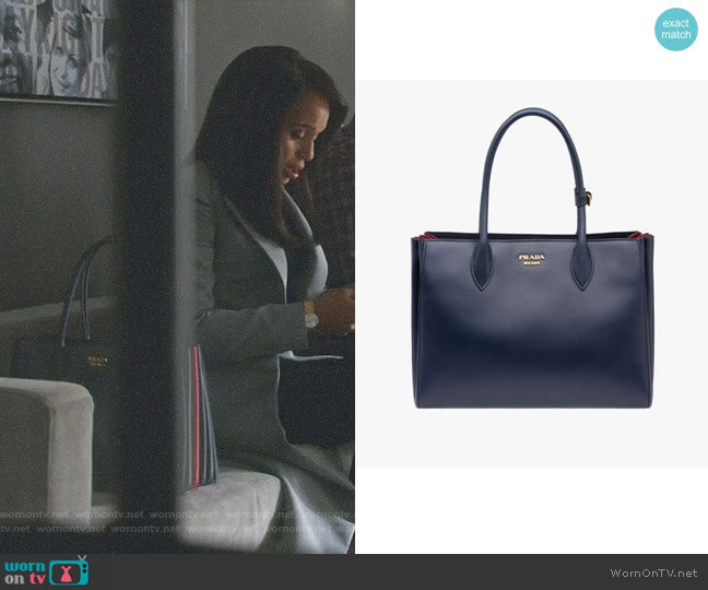 Bibliotheque Tote with Bellow Sides by Prada worn by Kerry Washington on Scandal
