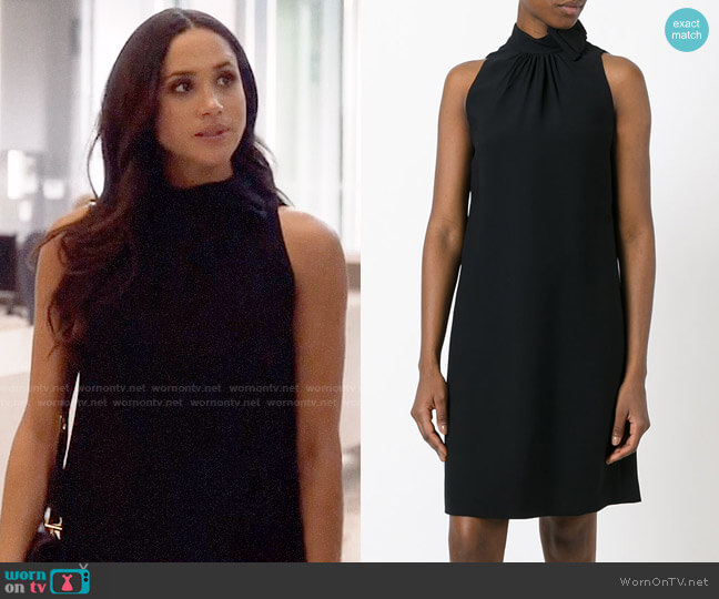 Prada Bow-neck Dress worn by Rachel Zane (Meghan Markle) on Suits