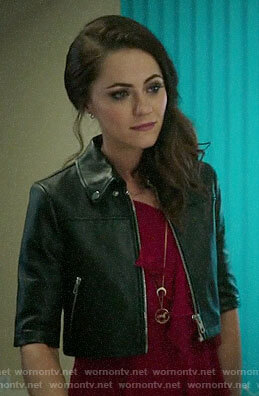 Princess Eleanor's cropped leather jacket on The Royals