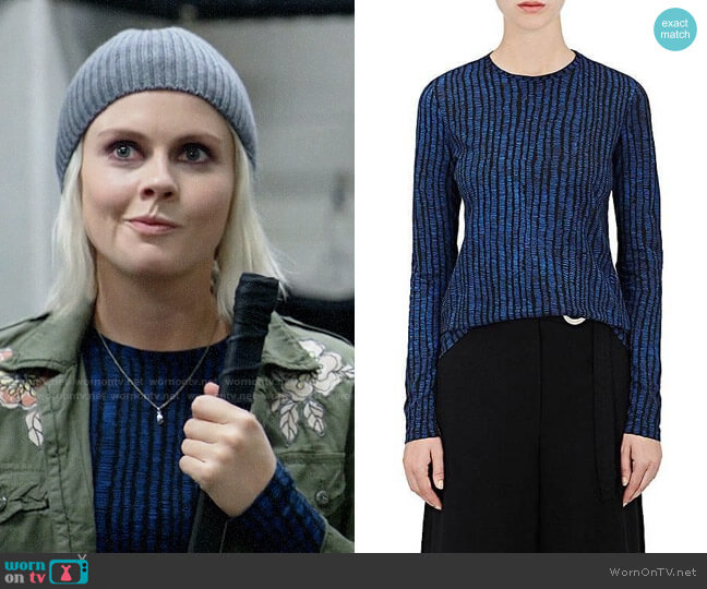 Proenza Schouler Cotton Long Sleeve T-shirt worn by Rose McIver on iZombie