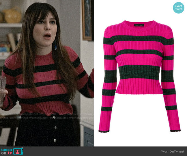 Proenza Schouler Striped Rib Knit Crewneck worn by Kathrine Herzer on Madam Secretary