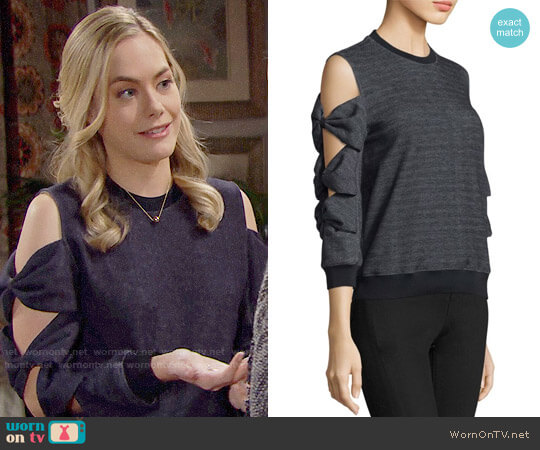 Prose & Poetry Millie Sweatshirt worn by Annika Noelle on The Bold & the Beautiful