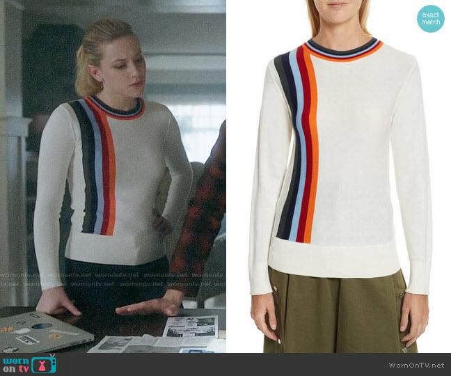 Public School Nell Sweater worn by Betty Cooper (Lili Reinhart) on Riverdale