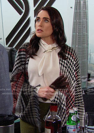 Quinn's houndstooth shawl on The Bold and the Beautiful