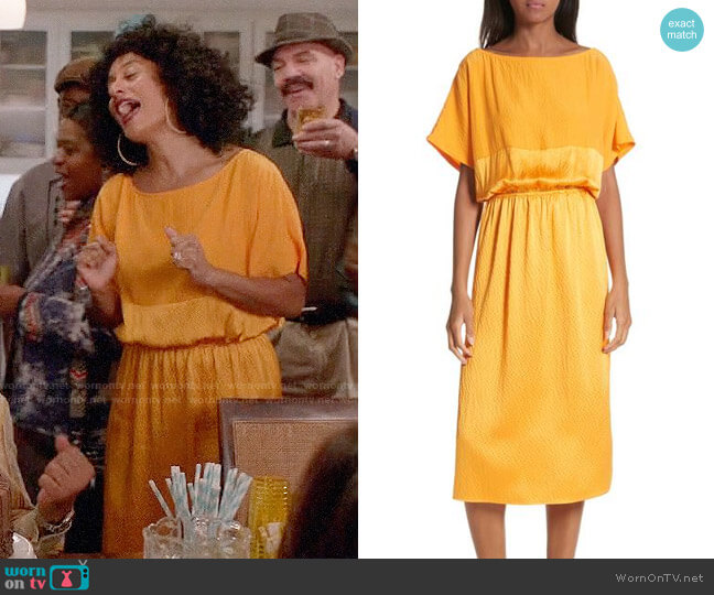 Rachel Comey Tonic Silk Midi Dress worn by Tracee Ellis Ross on Blackish