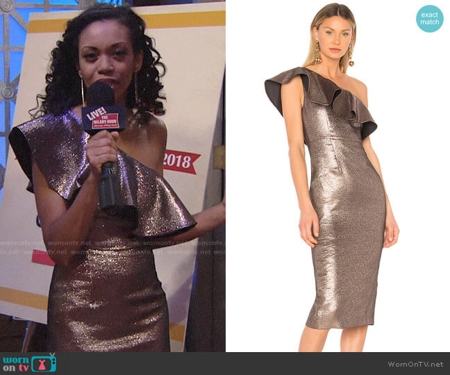 Rachel Zoe Tabitha Dress worn by Hilary Curtis (Mishael Morgan) on The Young & the Restless