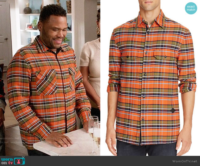 Rag & Bone Hudson Carhartt Plaid Shirt worn by Anthony Anderson on Blackish