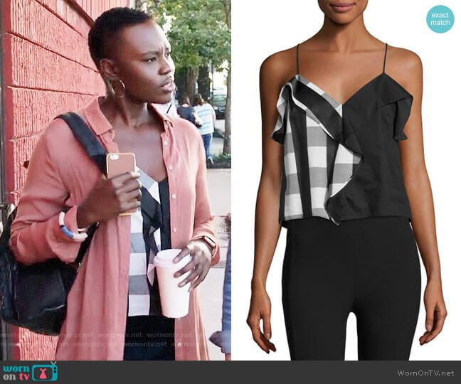 Rag & Bone Posta Top worn by Mina Okafor (Shaunette Renee Wilson) on The Resident