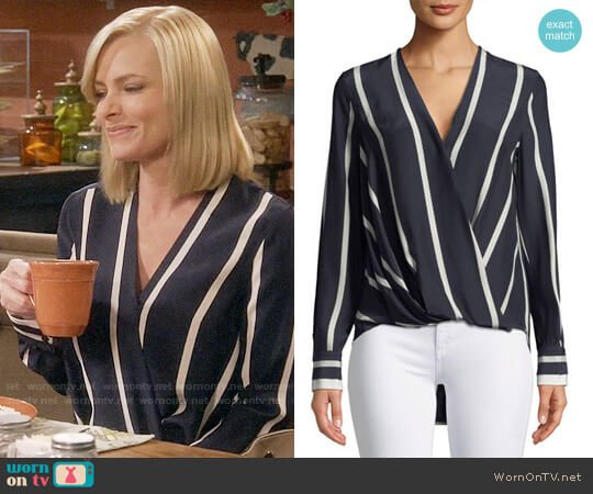 Rag & Bone Victor Blouse worn by Jill Kendall (Jaime Pressly) on Mom