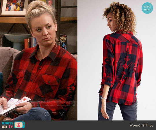 Rails Larsson Shirt worn by Kaley Cuoco on The Big Bang Theory