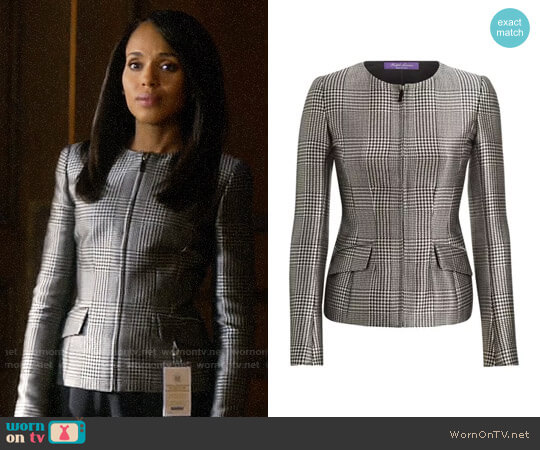Ralph Lauren Collection Lorraine Glen Plaid Jacket worn by Kerry Washington on HTGAWM