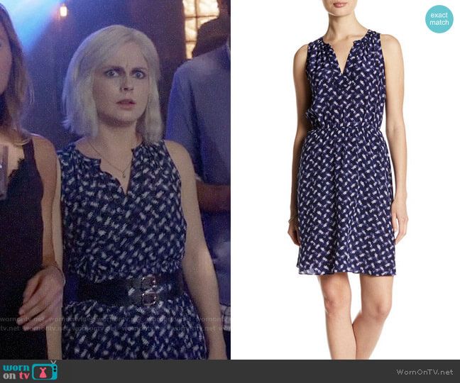 Rebecca Taylor Criss Cross Silk Dress worn by Liv Moore (Rose McIver) on iZombie