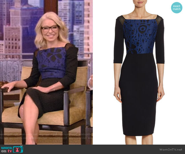 'Newark' Sheath Dress by Roland Mouret worn by Kelly Ripa  on Live with Kelly & Ryan