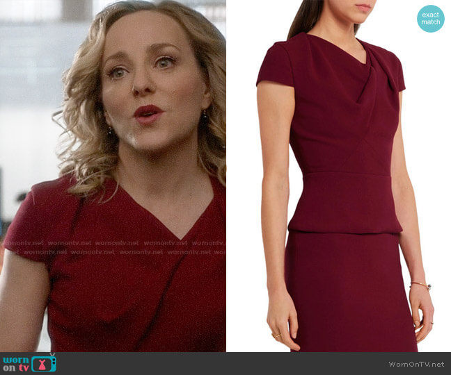 Roland Mouret Hato Top worn by Geneva Carr on Bull