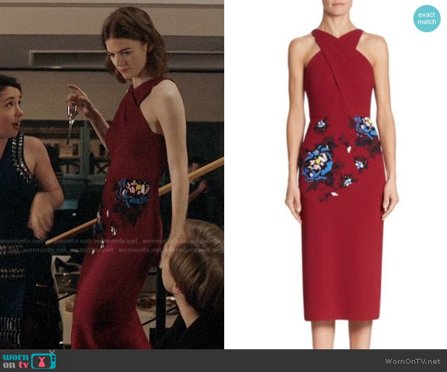 Roland Mouret Maxton Floral-Embroidered Midi Dress worn by Maia Rindell (Rose Leslie) on The Good Fight