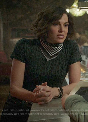 Roni's leopard print tee on Once Upon a Time