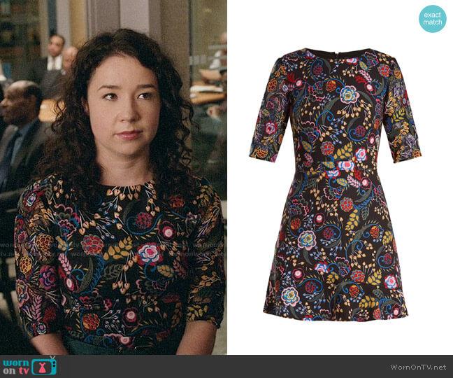Saloni Celia Dress worn by Marissa Gold (Sarah Steele) on The Good Fight