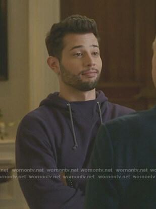 Sam's purple hoodie on Dynasty