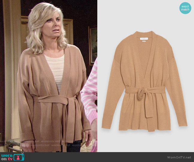 Sandro Elina Cardigan worn by Ashley Abbott (Eileen Davidson) on The Young & the Restless