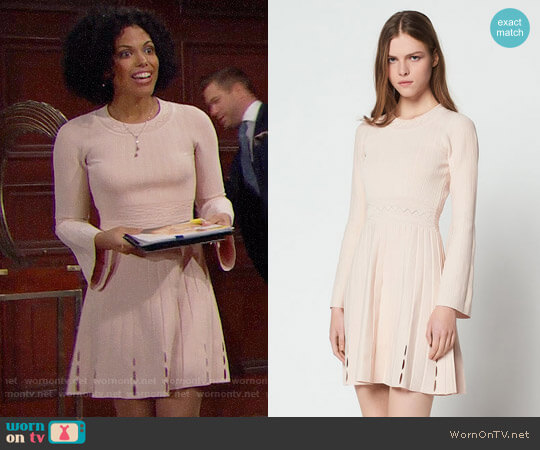 Sandro Terez Dress worn by Karla Mosley on The Bold & the Beautiful