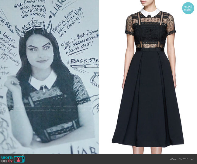 Self Portrait Fleur Lace Dress worn by Camila Mendes on Riverdale