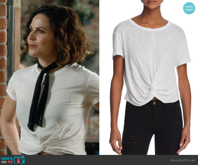 Splendid Twist-Front Slub Tee worn by Regina Mills (Lana Parrilla) on OUAT