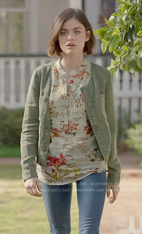 Stella's floral top on Life Sentence